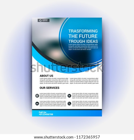 realestate flyer template stock vector royalty free 1172365957