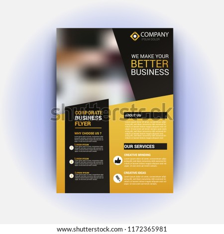 realestate flyer template stock vector royalty free 1172365981