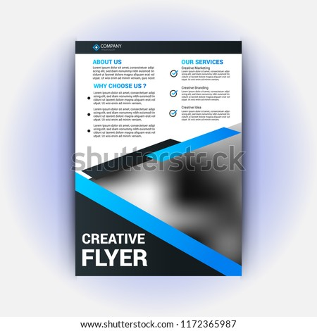 realestate flyer template stock vector royalty free 1172365987