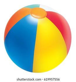 Realictic vector beach ball