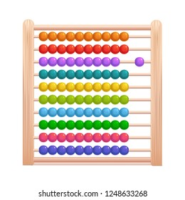 Realistic 3d Detailed Color Wooden Abacus Stationary for Education Arithmetic Symbol of Traditional Learning Counting. Vector illustration