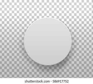 Realistic 3d  gray blank Package Cardboard round gift Box isolated. For Software, Electronic device, your design, logo, other products.  Vector illustration template.