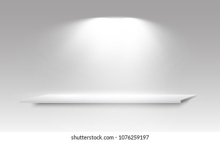 Realistic 3d Light Box with Platform  Background for Design Performance, Show, Exhibition. Vector illustration of Lightbox Studio Interior