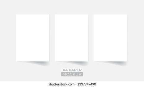 Realistic 3D paper flyer mockup
