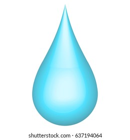 Realistic 3D water drop h2o, vector ecology concept the relationship between man and nature