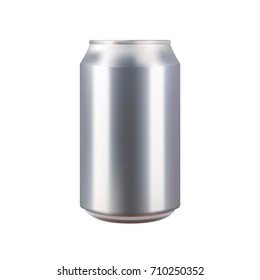 Realistic aluminium can vector illustration