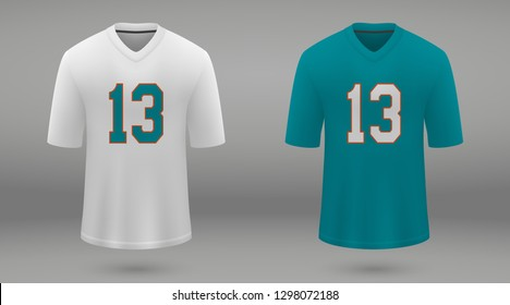 Realistic american football jersey Miami Dolphins 3fa9b0ce9