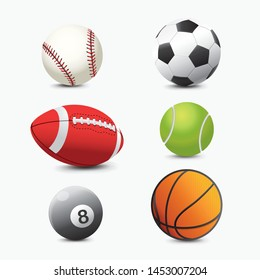 Realistic Ball Icon Sport Vector