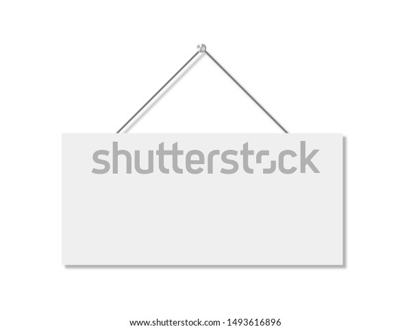 Realistic banner for paper design. Isolated vector illustration. Realistic vector signboard on white background. EPS 10