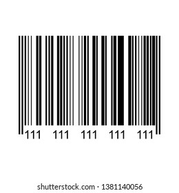 Realistic bar code icon. Marketing, the concept of the Internet isolated on white background.