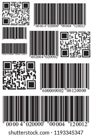 Realistic bar code icon. A modern simple flat barcode. Marketing, the concept of the Internet.