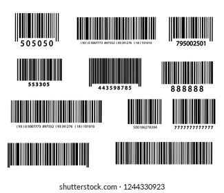 Realistic bar code icon. A modern simple flat barcode. Marketing, the concept of the Internet. Vector illustration