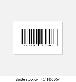 Realistic bar code icon. A modern simple flat barcode. Marketing, the concept of the Internet. Fashionable vector sign of a market trademark for website design, mobile application.