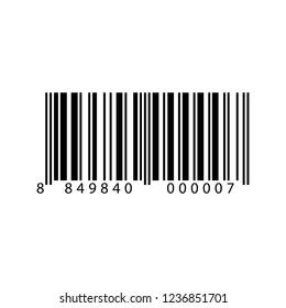 Realistic Barcode. Bar code sale data symbol. Shop sticker. Sell scaner emblem. Supermarket identification price illustration.