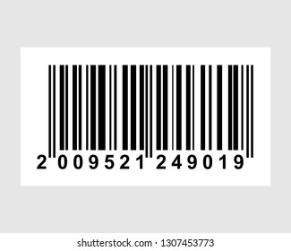 Realistic barcode icon. Bar code vector illustration. Machine-readable code in the form of numbers and a pattern of parallel lines of varying widths, printed on and identifying a product.
