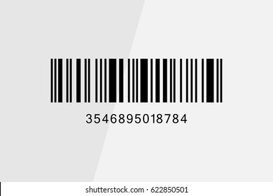 Realistic Barcode icon isolated