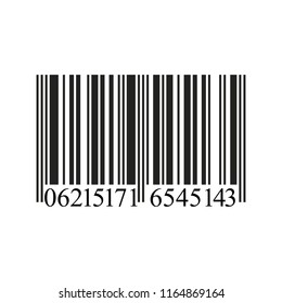 Realistic Barcode icon isolated on white background. Vector Illustration