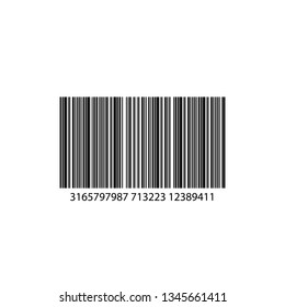 Realistic Barcode icon isolated. Universal Product Scan Code
