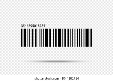 Realistic Barcode icon isolated. Barcode vector icon. Bar icon. Number vector icon