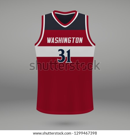 d396c7b59 Realistic Basketball Kit Design Washington Wizards Stock Vector ...