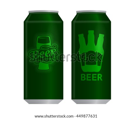 realistic beer can vector illustration template stock vector