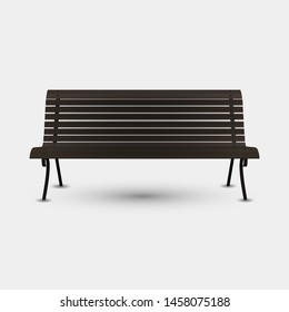 Realistic bench isolated on the light background. Vector illustration.