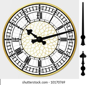 Realistic big ben clock - vector illustration - layered and grouped