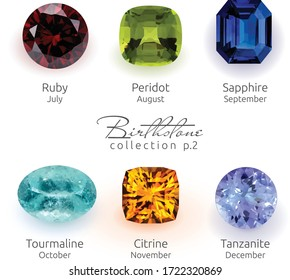 Realistic Birthstones collection part two