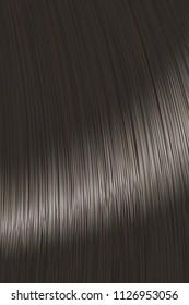 Realistic black straight hair lock backgroud