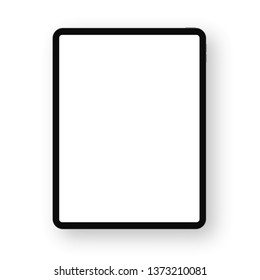 Realistic black Tablet. Front Display View. High Detailed Device Mockup. Separate Groups and Layers. Easily Editable Vector