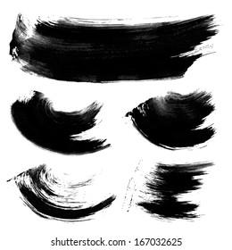 Realistic black texture strokes 1
