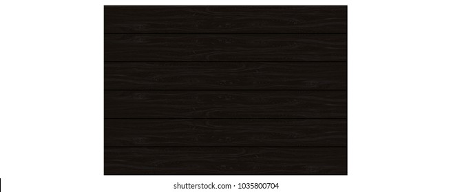 Realistic black wood pattern background texture background vector illustration.