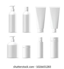 Realistic Blank Cosmetic Packaging