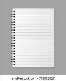 Realistic blank notebook - stock vector.
