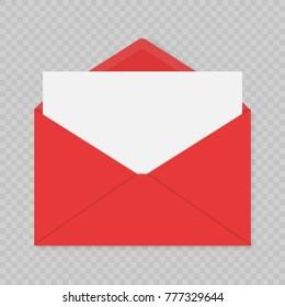 realistic blank open envelopes mockup