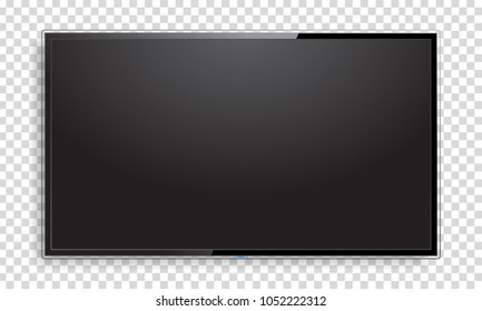 Realistic blank TV screen mock up. Vector illustration