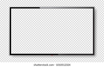Realistic blank TV screen with place for your design. Vector illustration