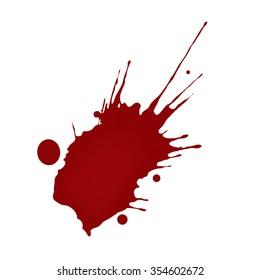 Realistic blood splatters