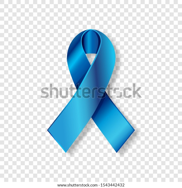 Realistic Blue Ribbon Prostate Cancer Awareness Stock Vector Royalty Free 1543442432
