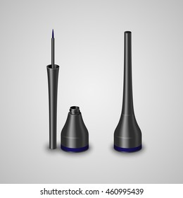Realistic bottle with liquid eyeliner. Vector illustration