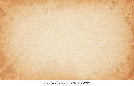Realistic brown cardboard stained texture. vector illustration.