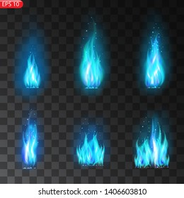 Realistic burning fire flames vector effect with transparency for design. Trail of fire.Burning flames translucent elements special Effect