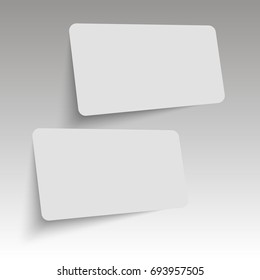 Realistic business cards template. Vector.