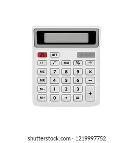 Realistic calculator isolated on white background.The calculator is in the vector.Calculator vector illustration.Vector EPS10.