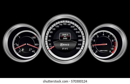 realistic car dashboard