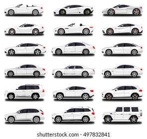 realistic car. Different cars. Set