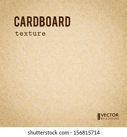 Realistic cardboard beige stained vector texture