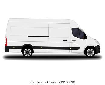 realistic cargo van.