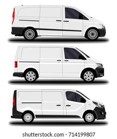 realistic cargo van. set.
