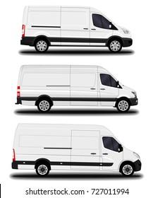realistic cargo van. set
